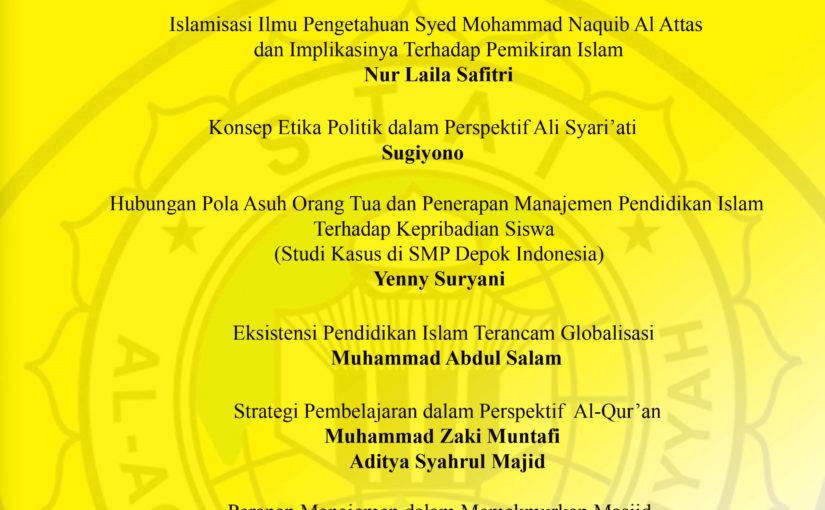 Al-Aqidah   jurnal Studi Islam